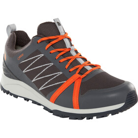 The North Face Litewave Fastpack II GTX Chaussures Homme, ebony grey/scarlet ibis